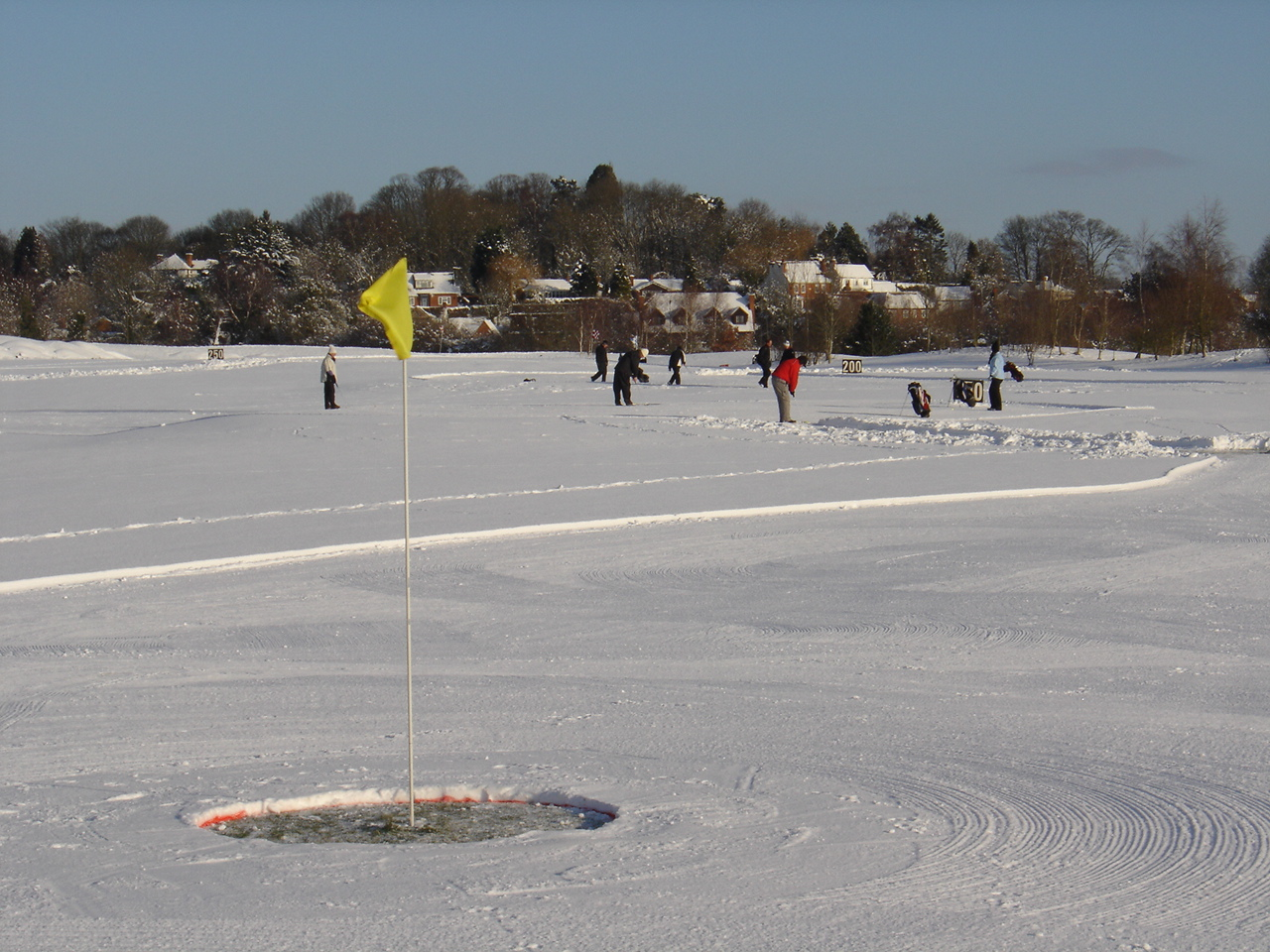 Snow golf course at Castle Royle Golf and Country Club January 2010