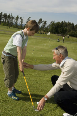 Andrew Murray giving coaching last year at De Vere Collection PGA Seniors Championship.De Vere Slaley Hallmod