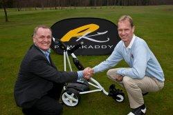 Terry Hale Chief Executive PowaKaddy (left) and Peter Mattsson EGU Director of Coachingmod