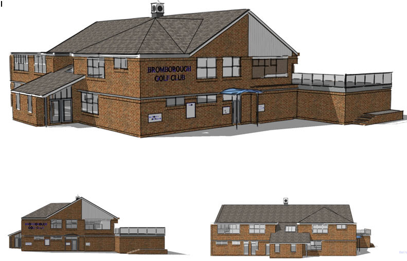 Bromborough Clubhouse drawing