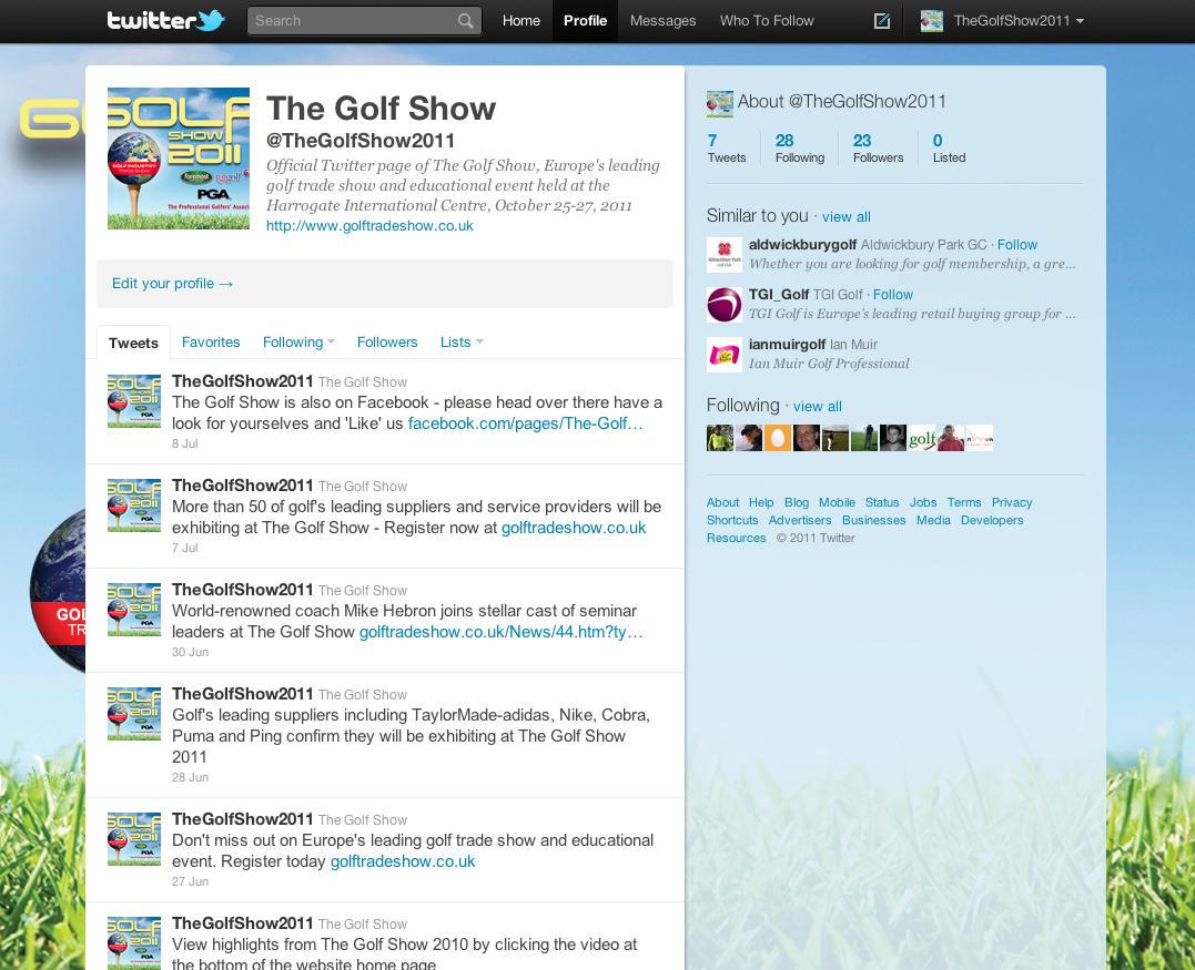 Golf Show Twitter