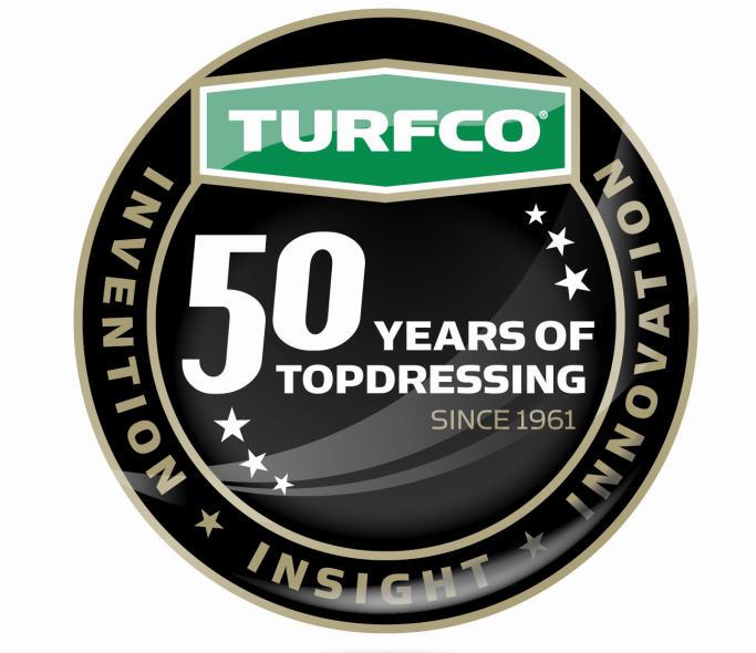 Turfco Anniversary logo