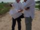 Sir Nick Faldo (right) at Vattanac Golf Resort in Phnom Penh, Cambodia with Faldo Design Director of Architecture, Andrew Haggar.