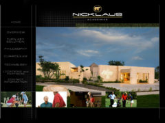 Nicklaus Golf Academies web page