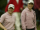 Annika Sorenstam (left) and Carin Koch