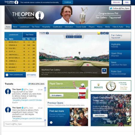 Open Championship website