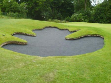 The completed bunker awaits sand