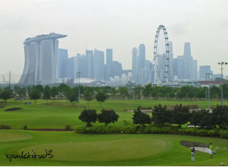 Marina Bay, Singapore's only public golf course