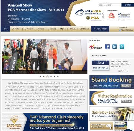 Asia Golf Show Dec 2013 webpage