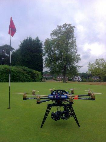Skyhook aerial golf club marketing
