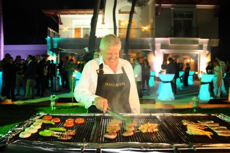 Monty shows off his culinary skills as he welcomes guests to his luxury …