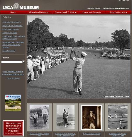 USGA Museum website