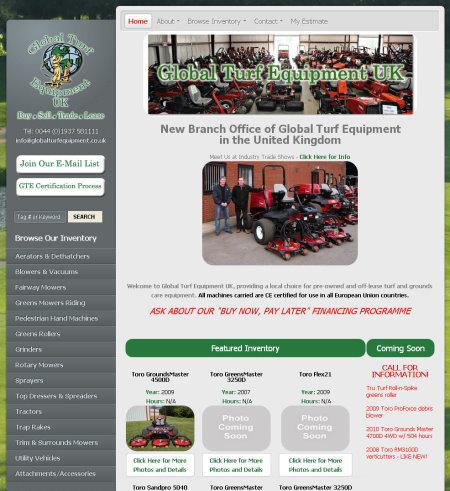 GTE UK website