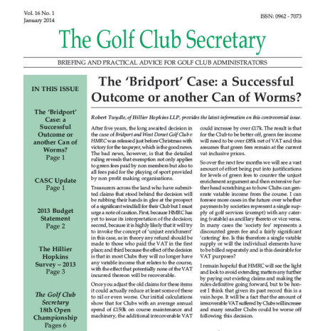 Golf Club Secretary front cover