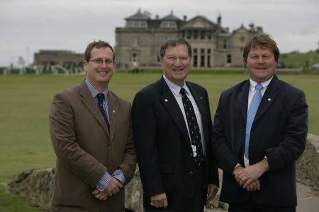 Tim Lobb, Peter Thomson & Ross Perrett at The Home of Golf