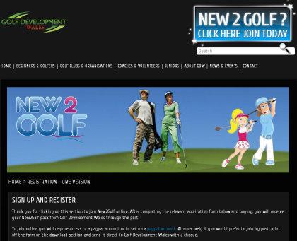 New2Golf website