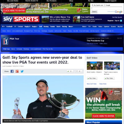 Live Pga Tour Golf Sky Sports