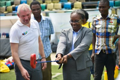 SNAG Director of Schools Sports for the State, Mrs Grace Asagba (pictured wit…