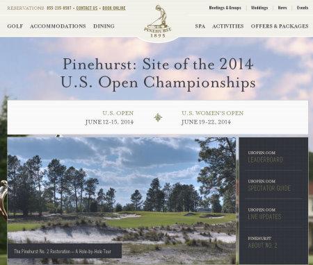 Pinehurst website grab