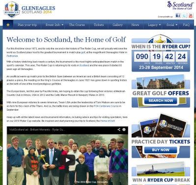 Ryder Cup Scotland website