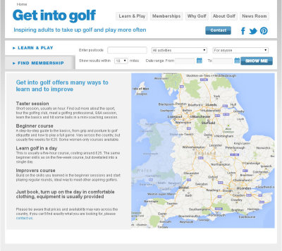 Get into Golf Map