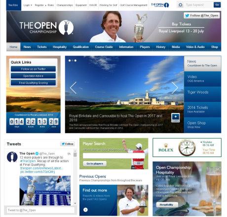 The Open website 2.7.14