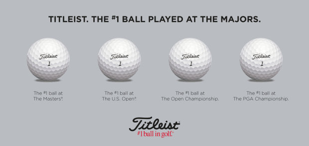 Titleist completes clean sweep as #1 Ball at Majors in 2014