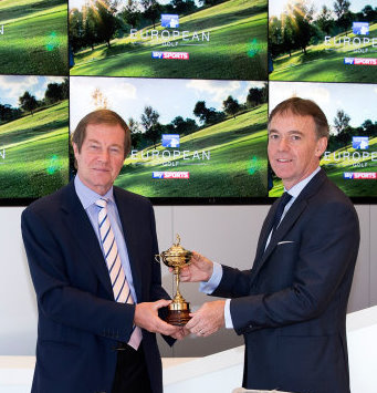 George O'Grady, Chief Executive of The European Tour, and Jeremy Darroch, BSkyB Chief Executive tn