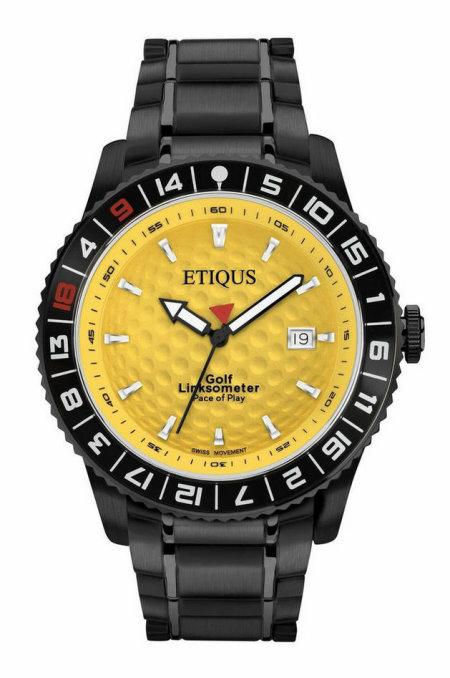 etiqus watch yellow