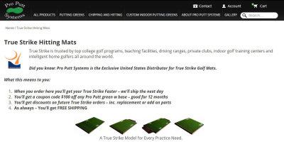 Pro Putt Systems website