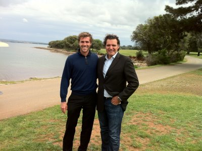 Emilio Dellanzo and Anthony Ritossa on site in Croatia.photo