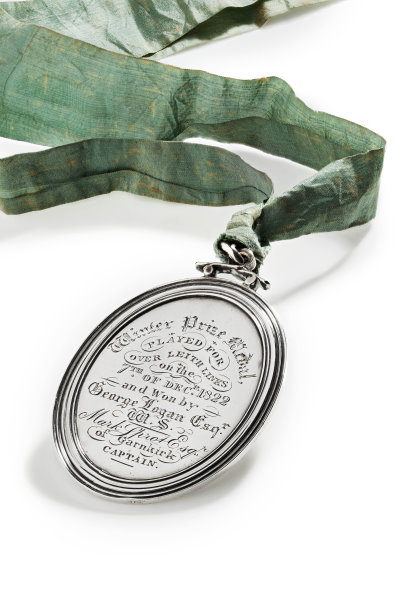 1822 Thistle Golf Club silver prize medal won by George Logan Esq
