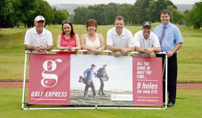 Golf Express players at Druids Heath Golf Club, Staffordshire