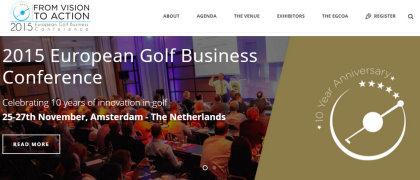 Golf Business Conference website