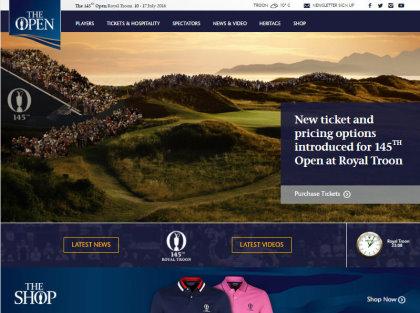 Open Golf website grab