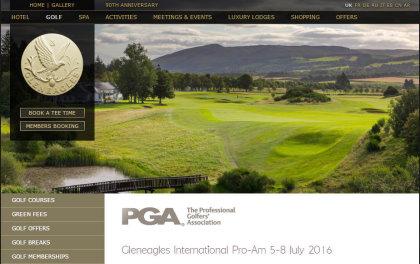 Gleneagles Pro-am webpage