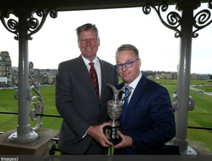 Martin Slumbers, Chief Executive of The R&A (left) and Keith Pelley,
