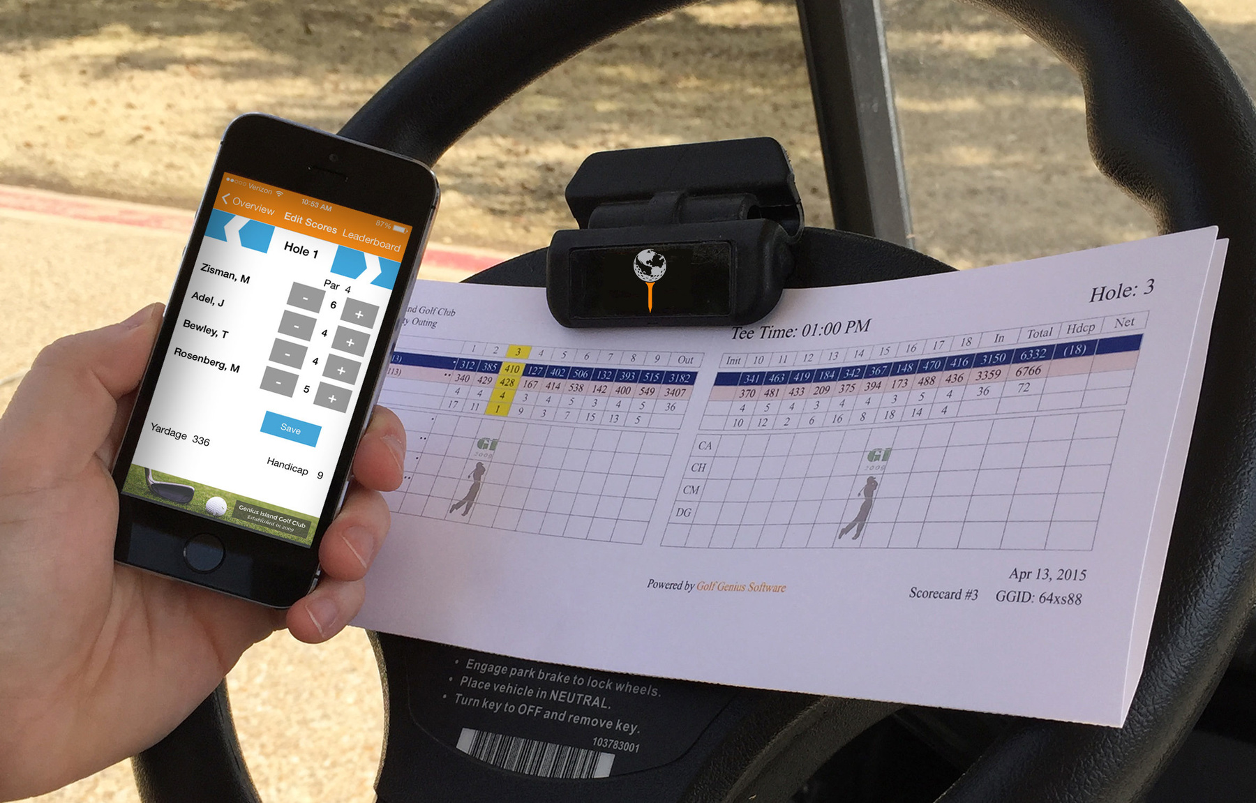 Golf GeniusiPhone app and scorecard