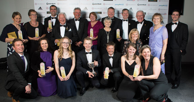 Winners at the England Golf Awards