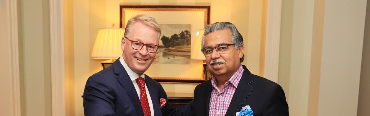 Keith Pelley and Pawan Munja