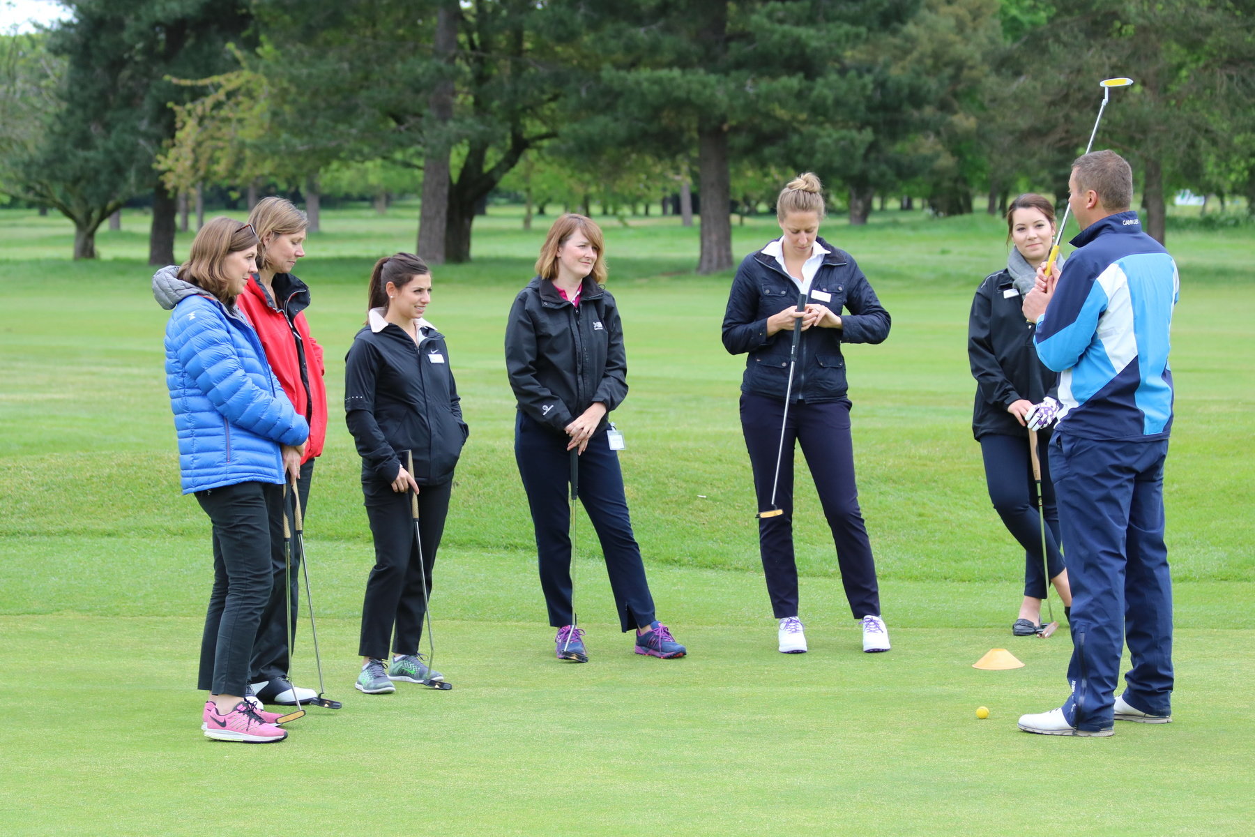 Business Women taking up golf at Royal Mid-Surrey