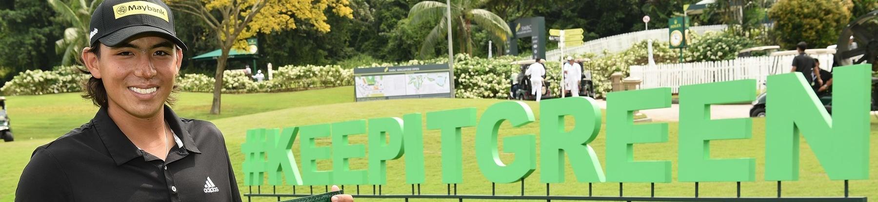 Gavin Green Launches Sentosa Golf Club's #KeepItGreen Campaign at SMBC Singapore Open