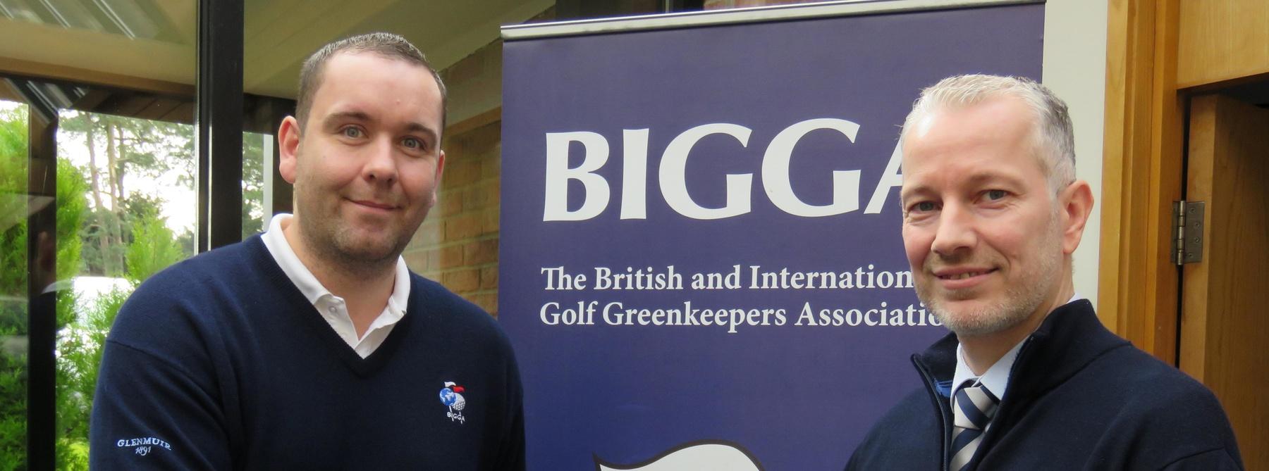 BIGGA's Gavin Rees headerand Richard Aitken Jnr 2