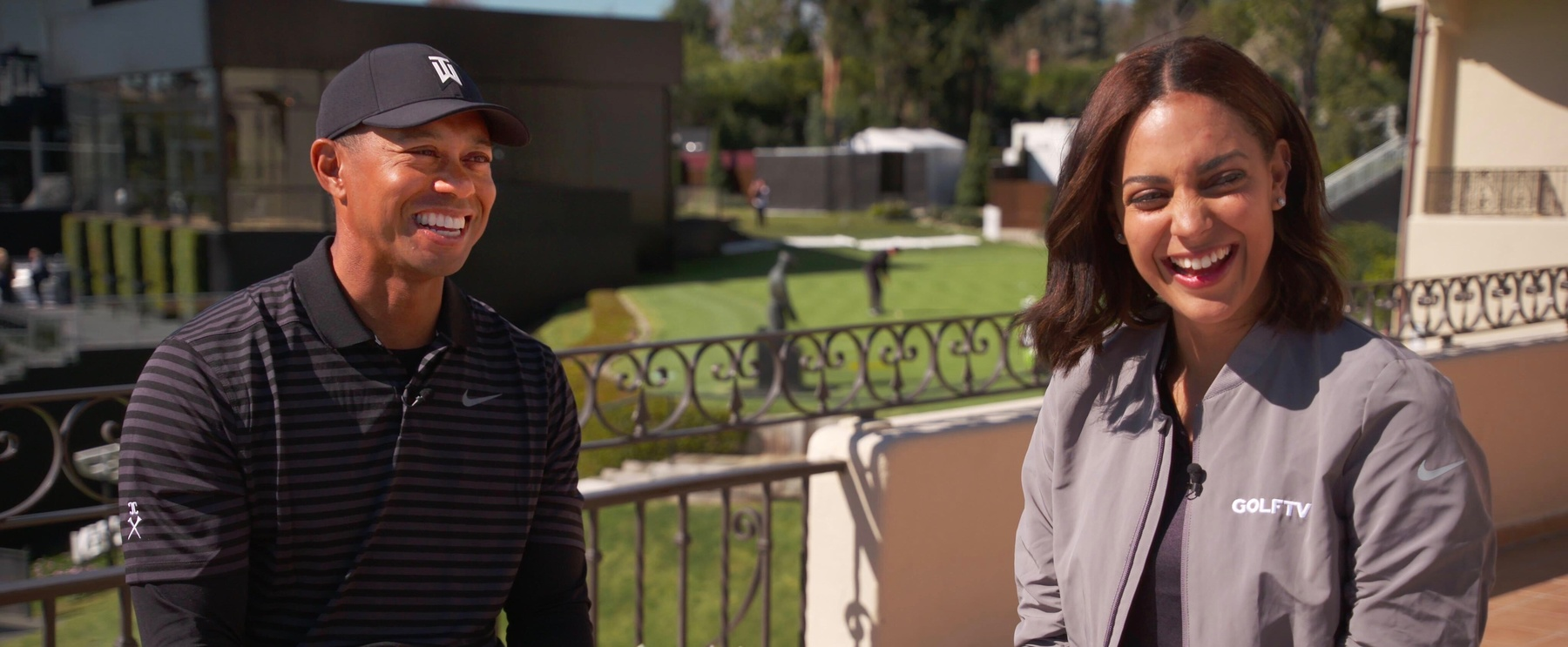 Henni Zuel, Tiger Woods – GOLFTV – At the Genesis Open, an event that benefits the TGR Foundation (1)