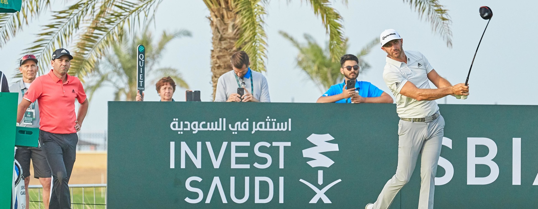 Dustin Johnsoncrop Tees off at The Saudi International Powered By SBIA