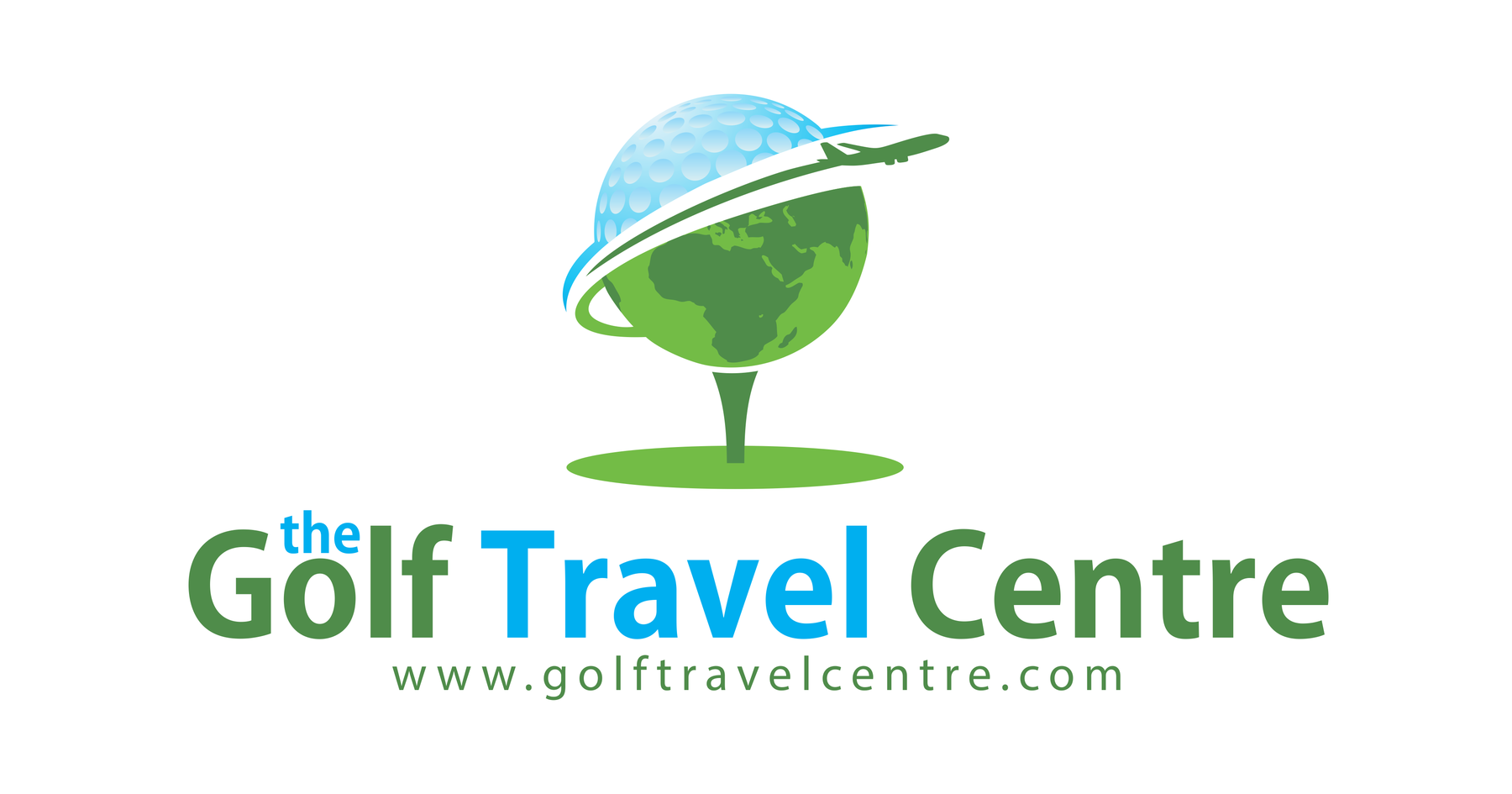 the golf travel center white background