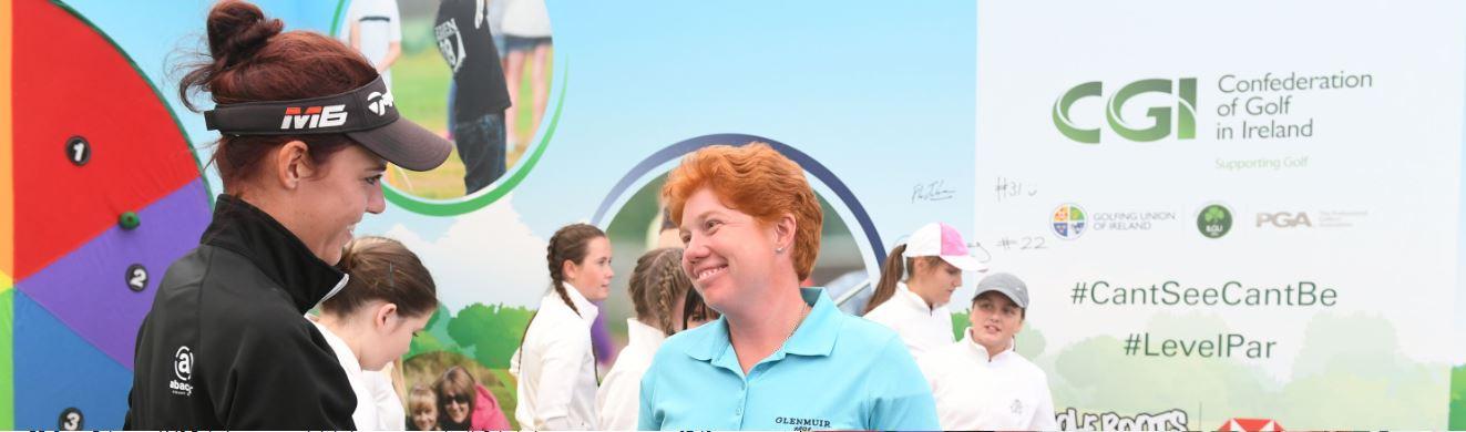 M&F shake hands Golf Foundation Open