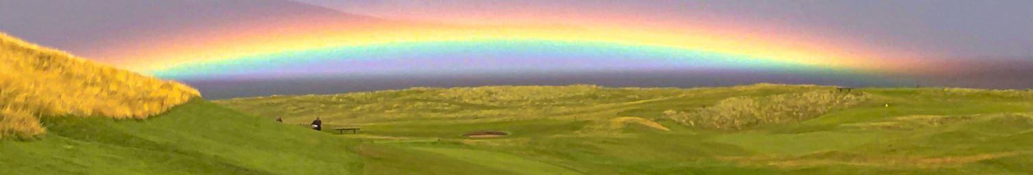 Brora golf rainbow.