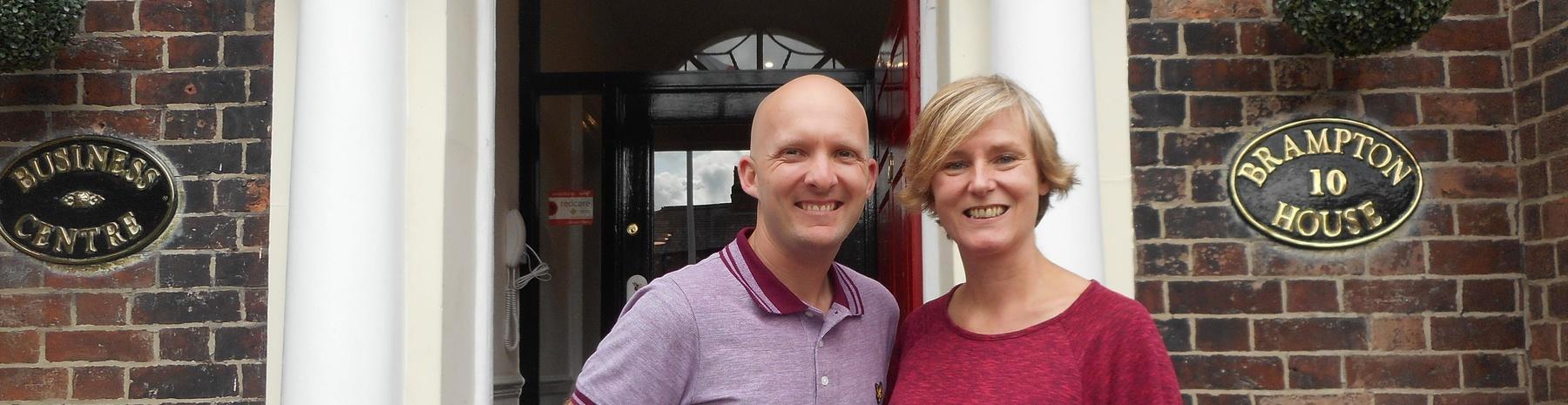 Gareth Shawcrop and Nicole Wheatley
