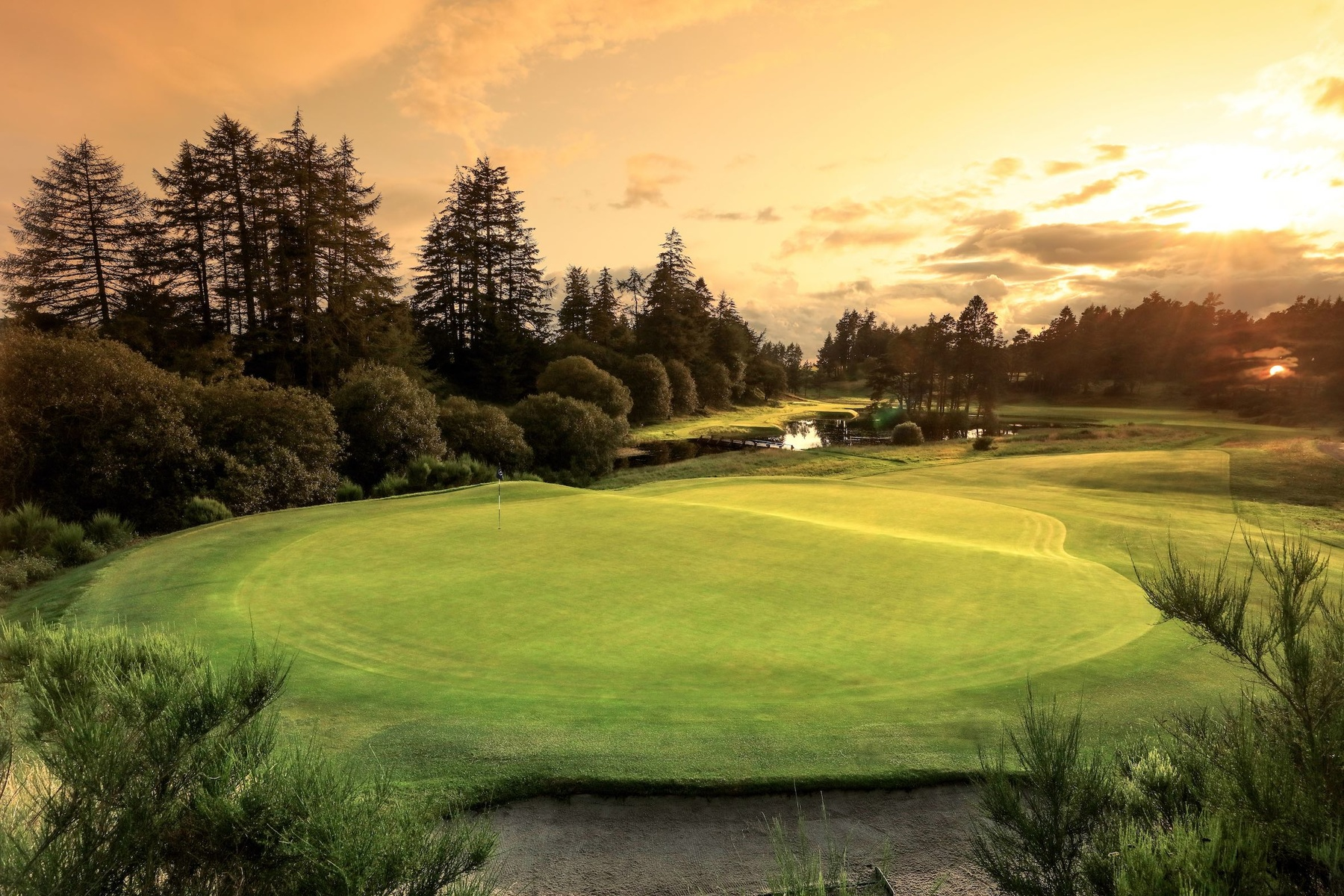 General views of the Gleneagles Golf Courses